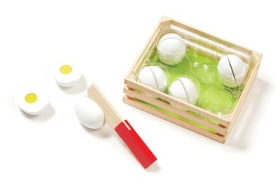 Slice and Sort Wooden Eggs Play Set  -