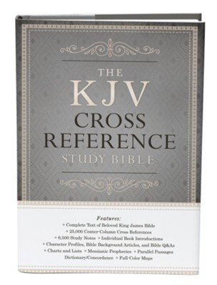KJV Reference Study Bible hardcover, gray/tan  -     By: Christopher Hudson