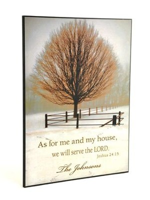 Personalized Mounted Lithograph, As For Me And My House   -     By: David Lorenz Winston