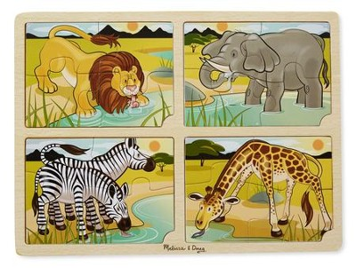 4-In-1 Safari Puzzle  -