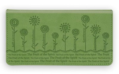 Checkbook Cover Green Fruit of the Spirit  -