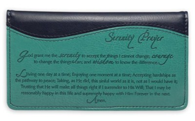 Checkbook Cover Blue Serenity Prayer  -