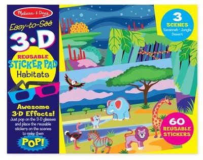 Habitats, 3-D Reusable Sticker Pad  -