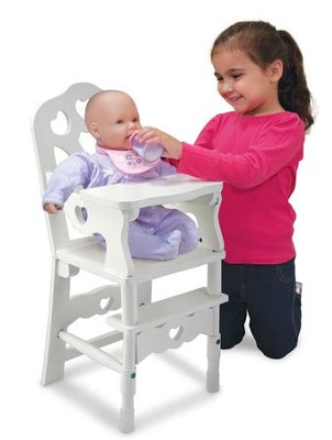 Wooden Doll High Chair  -