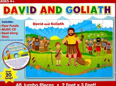David and Goliath Floor Puzzle & CD  -     By: Twin Sisters, Karen Mitzo Hilderbrand, Kim Mitzo Thompson