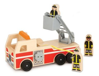 Fire Truck Set, 4 Pieces  -