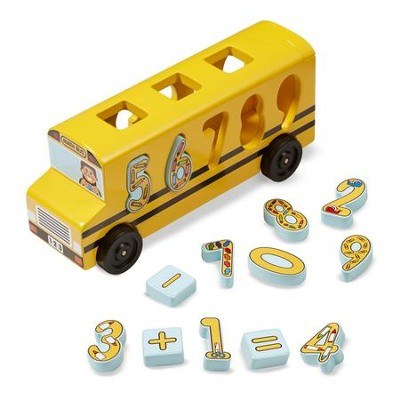 Number Matching Math Bus  -