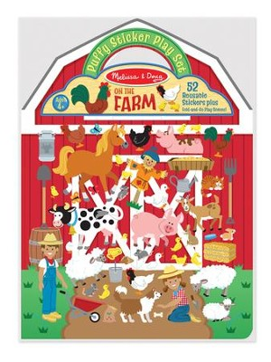 On the Farm, Puffy Stickers Play Set  -