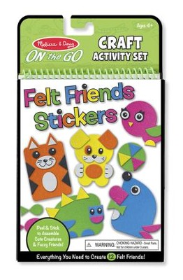 On-the-Go Crafts, Felt Friends  -