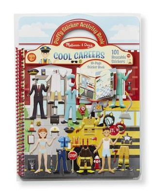 Cool Careers, Puffy Sticker Activity Book  -