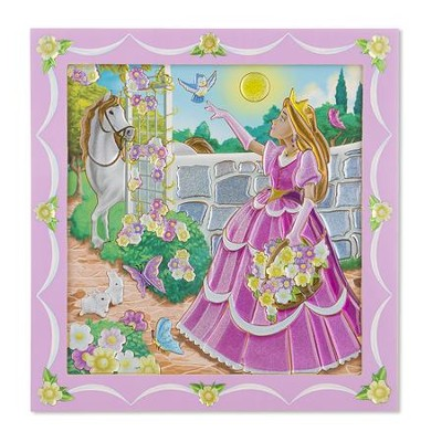 Peel and Press Sticker by Number, Princess  -