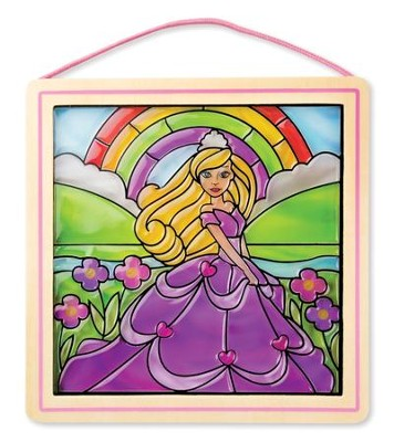 Peel and Press Stained Glass Stickers, Princess  -