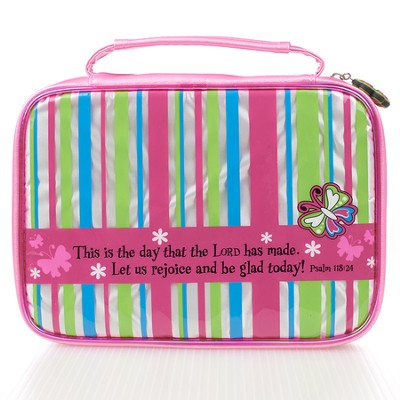 Bible Cover - Small Little Miss Grace Striped  -