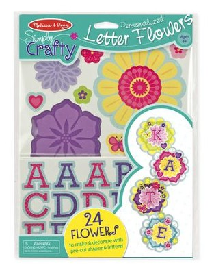 Personalized Letter Flowers activity Kit  -