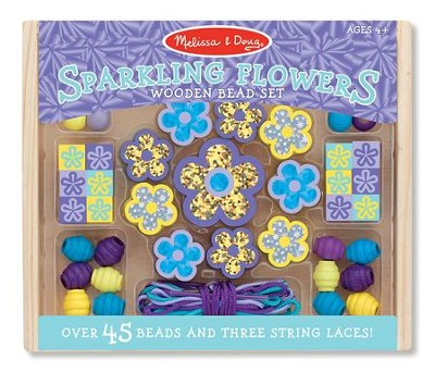 Sparkling Flowers Wooden Bead Activity Set  -