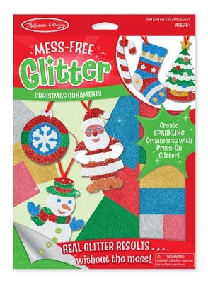 Mess Free Glitter Christmas Ornaments   -