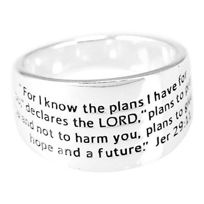 For I Know the Plans Ring, Size 8  -