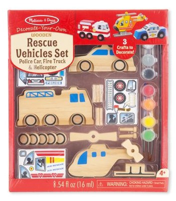Decorate Your Own Rescue Vehicles Set  -