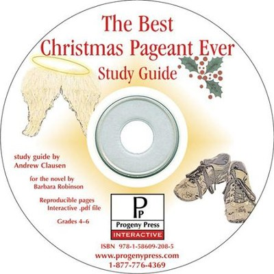 Best Christmas Pageant Ever Study Guide on CDROM  -