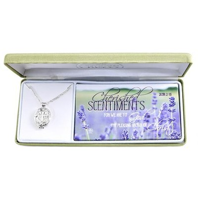 Cherished Sentiments Necklace, Oval with Cutout Hearts and Cross  -