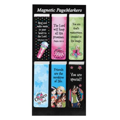 Magnetic Bookmarks, Set of 6, Little Miss Grace  -