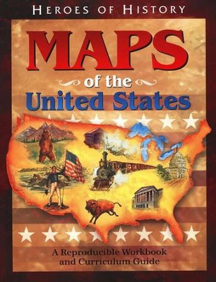 Maps of the United States: A Reproducible Workbook and Curriculum Guide  -