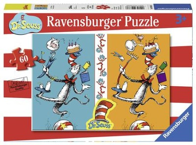 Dr. Seuss, The Cat in the Hat See A Difference? Puzzle, 60 Pieces  -