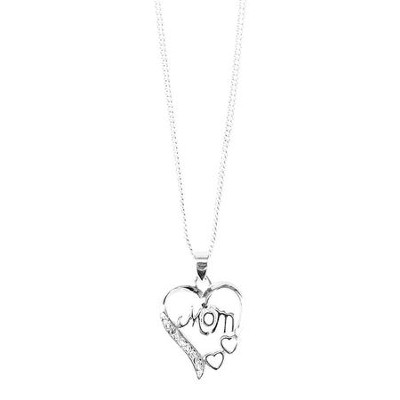 Mom Heart Necklace  -