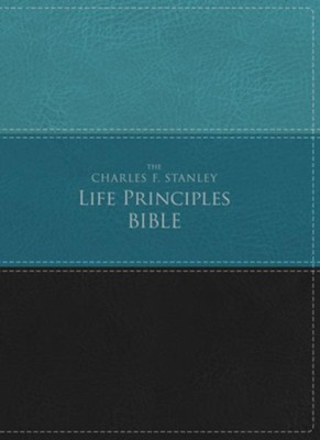 NIV, The Charles F. Stanley Life Principles Bible, Imitation Leather, Green and Black  -     Edited By: Charles Stanley