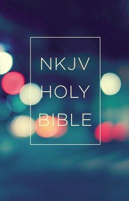 NKJV, Value Outreach Bible, Paperback, Urban Scenic  -