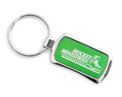Hockey Ministries Internation Keychain, Green    -
