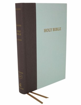 KJV, Thinline Bible, Large Print, Cloth over Board, Gray/Green, Red Letter Edition  -