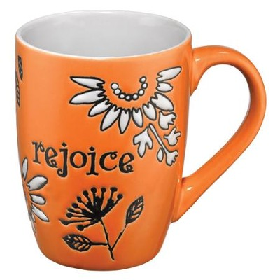 Rejoice Mug, Orange  -