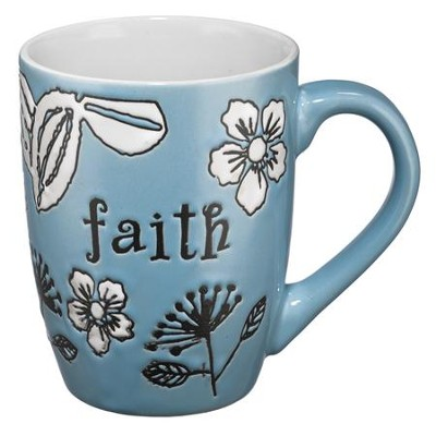 Faith Mug, Blue  -