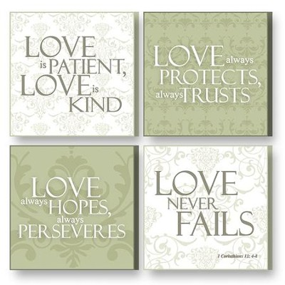 Treasured Times Plaques, Love Is Patient  -
