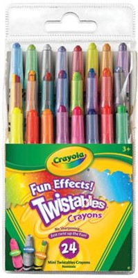 Crayola, Fun Effects Mini Twistable Crayons, 24 Pieces  -