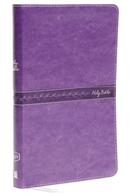 KJV, Thinline Bible, Standard Print, Imitation Leather, Purple, Red Letter Edition  -