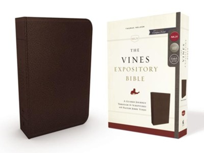 NKJV Vines Expository Bible--imitation leather, brown  -     Edited By: Jerry Vines