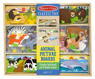 Stacking Animal Picture Boards, 24 Pieces  -