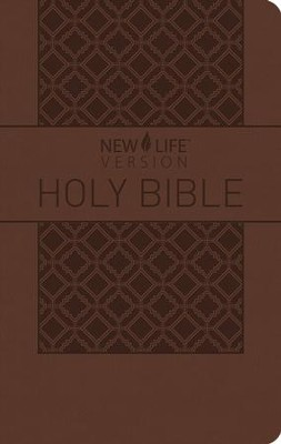 NLV Study Bible with Topical Outlines--imitation leather, brown  -