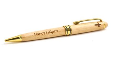 Personalized, Maple Pen with Cross   -