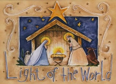 Light Of The World (Psalm 34:22, NIrV), 20 Count Boxed Christmas Cards  -