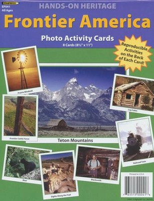 Frontier America Photo Activity Cards  -