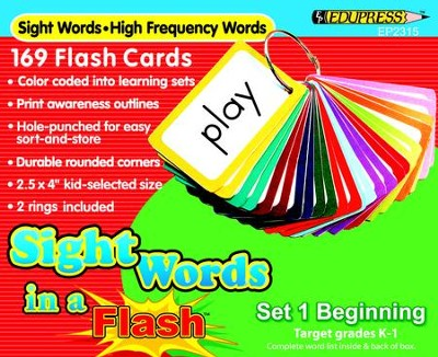 Sight Words in a Flash Set 1, Beginning, Grades K-1  -