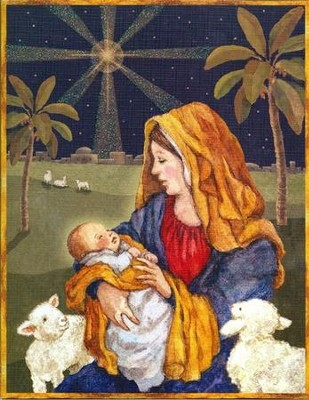 Mother and Child Christmas Cards, Box of 18  -     By: Betty Whiteaker
