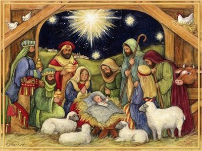 Nativity, Adore Him Christmas Cards, Box of 18  -     By: Susan Winget