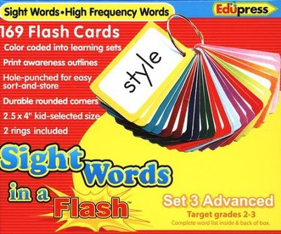 Sight Words in a Flash Set 3, Advanced, Grades 2-3  -