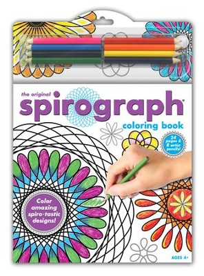 Spirograph Coloring Book and Pencils  -