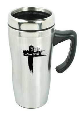 John 3:16 Travel Mug with Handle  -