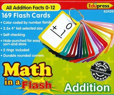 Math in a Flash Flashcards: Addition  -